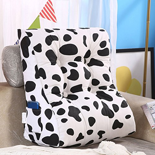 MS Pillow Triangle Bed Backrest Washable Sofa Cushion Soft Cushions On The Bed Office Lumbar Pillow Neck Guard Protection Waist Black White Multiple by MS (Image #2)