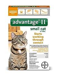 Bayer Advantage II Flea Treatment for Small Cats, 5 - 9 lb, 6...