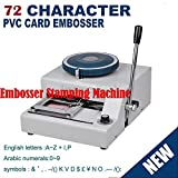 Embosser Stamping Machine 72 Character PVC Credit Card Symbols with Punch Handel