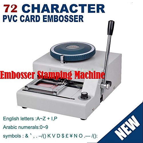 Embosser Stamping Machine 72 Character PVC Credit Card Symbols with Punch Handel by Unknown