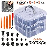 Eleven Guns 620 Pcs Car Retainer Clips, Plastic