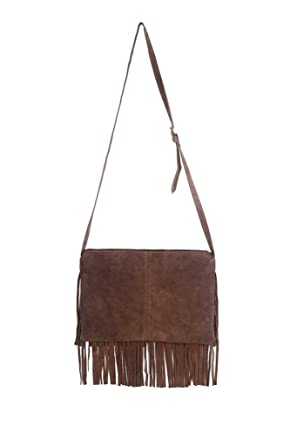 Chameleon women's pure Leather Sling bag with fringes: Amazon.in ...