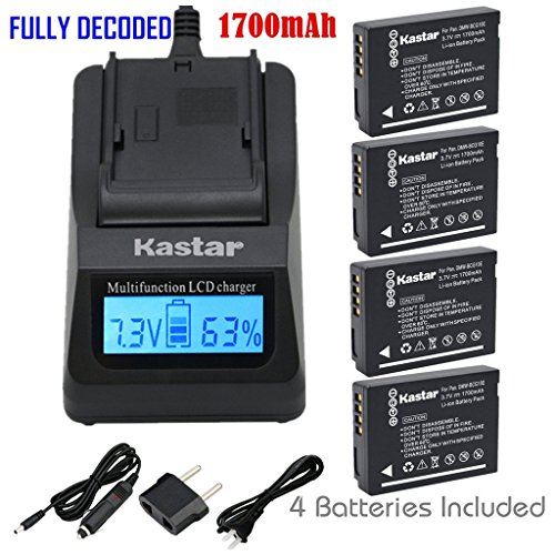 Kastar Fast Charger & Battery X2 for Panasonic DMW-BCG10 ...