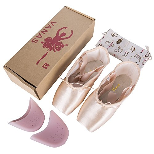 7b920599a WENDYWU Professional Ballet Slipper Dance Shoe Pink Ballet Pointe Shoes  with Toe Pad Protector for Girls