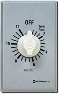Intermatic FF412H 12-Hour Spring Loaded Wall Timer, Brushed Metal Finish