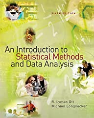 Ott and Longnecker's AN INTRODUCTION TO STATISTICAL METHODS AND DATA ANALYSIS, Sixth Edition, provides a broad overview of statistical methods for readers who have little or no prior experience in statistics. The authors teach readers to solv...