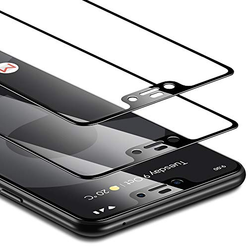 ESR Tempered Glass Screen Protector Compatible for Google Pixel 3 XL, [2 Pack] [Edge-to-Edge Coverage] [Fingerprint, Scratch & Force-Resistant] [Case Friendly] for Pixel 3 XL