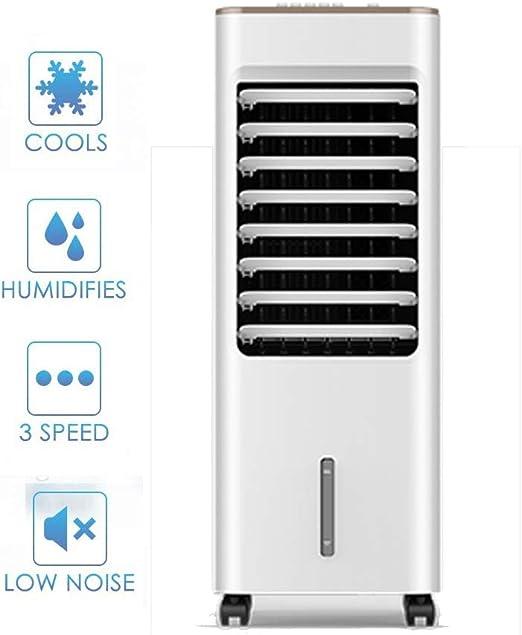 Móvil Aire Acondicionado 3 En 1 Aire Acondicionado Móvil,humidificador Climatizador Evaporativo Ventilador 3 Niveles De Velocidad,5 L Tanque De Agua Cajas De Hielo,4 Ruedas Para Dormitorio 70x28x27cm: Amazon.es: Hogar
