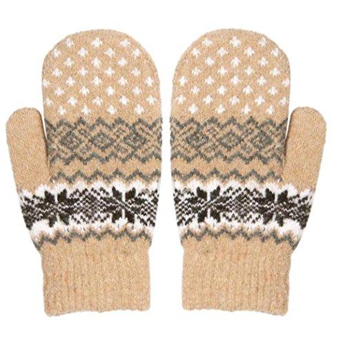Vovotrade Women Girl Snowflake Winter Keep Warm Mittens Gloves