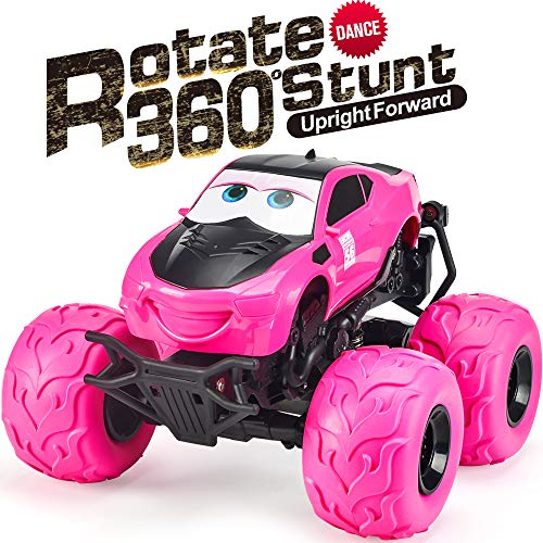NQD RC CAR Electric RC Car Off Road Vehicle 2.4Ghz Radio Remote Control Car 360° Spin Monster Truck Dancing Stunt Cartoon Toy Car