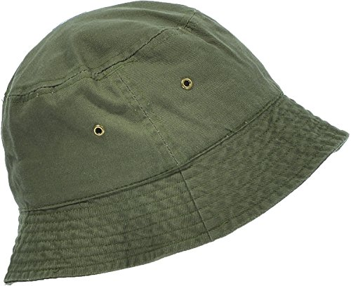 - Hand By Hand Aprileo Women's Bucket Hat Floral Solid Camo Cotton Washed Summer [Olive.](Small/Medium)