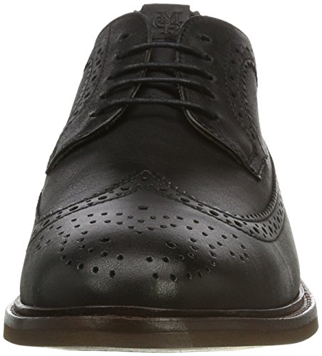 Marc O'Polo 70123773402102 Lace Up Shoe, Scarpe Stringate Brouge Uomo Nero (Black 990)