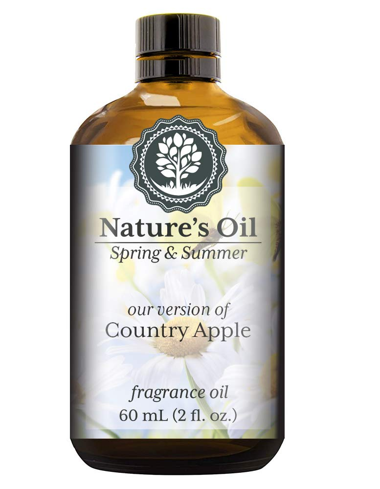 Country Apple Fragrance Oil (60ml) For Diffusers, Soap Making, Candles, Lotion, Home Scents, Linen Spray, Bath Bombs, Slime