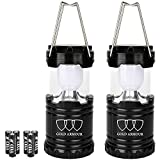 Gold Armour Camping Lantern - LED Lantern Camping Gear Equipment Camping Lights Flashlights Outdoor, Hiking, Emergencies, Hurricanes, Outages (Black Black)