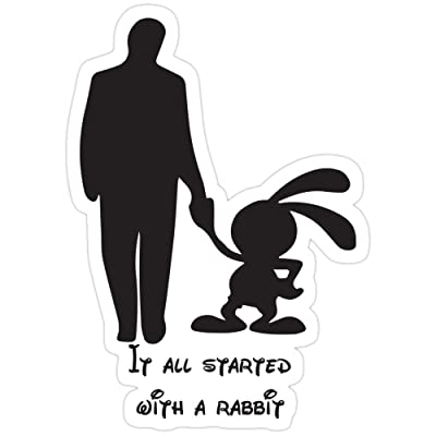 Andrews Mall It All Started with a Rabbit. Stickers (3 Pcs/Pack): Kitchen & Dining