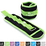 Fragraim Ankle Weights for Women, Men and Kids – Strength Training Wrist/Leg/Arm Weight Set with Adjustable Strap for Jogging, Gymnastics, Aerobics, Physical Therapy (from 1lb to 10lbs Pair)
