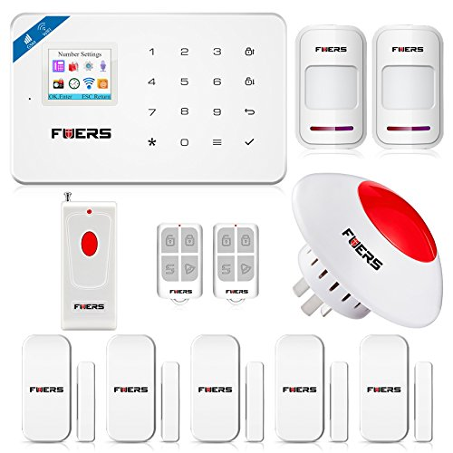 Fuers W18 2.4G WIFI GSM Wireless DIY Home and Business Security System Kit Easy to Install Security Alarm System Support IOS Android Smart Phone APP Control Fuers