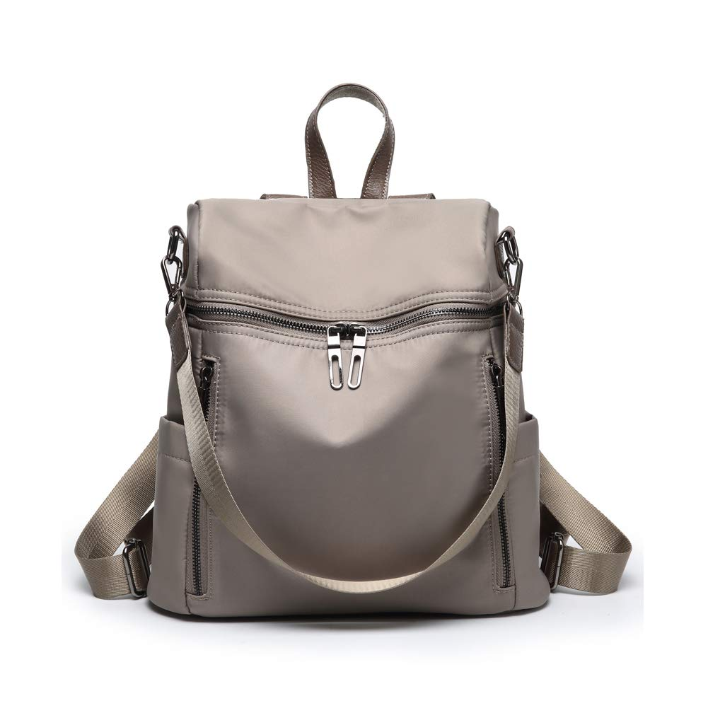 Women Backpack Purse Lightweight Fashion Canvas Ladies Handbag School Shoulder Bag Waterproof Travel Rucksack (gray)