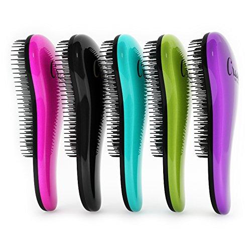 Crave Naturals Glide Thru Detangling Brush - Detangler Hair Brush for Adults or Children - Purple by Crave Naturals (Image #5)