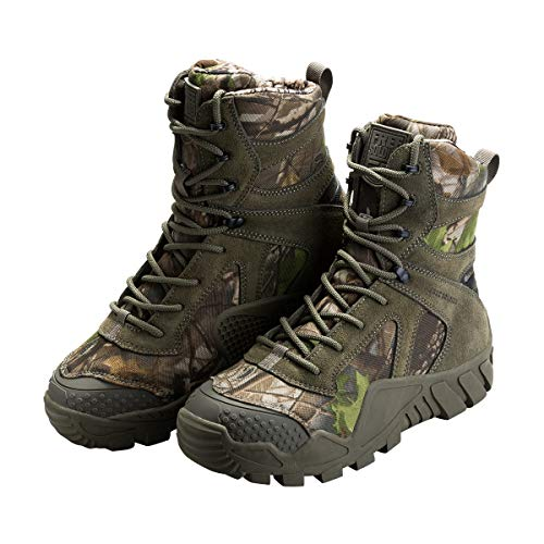 FREE SOLDIER Men's Tactical Boot All Terrain Suede Leather Shoes Outdoor Hiking Military Boots (Camouflage, 11 M US) ()