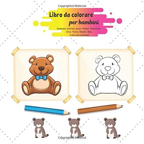 Libro Da Colorare Per Bambini Simpatici Animali Pesci Robot