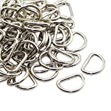 CrocSee Metal D Ring 1 inch Non Welded Nickel Plated Pack Of 100 (Large)
