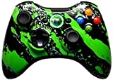 xbox 360 mod chip for console - Green Splatter 5000+ Modded Xbox 360 Controller