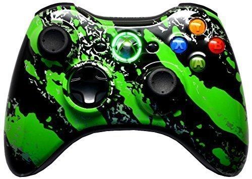 (Green Splatter 5000+ Modded Xbox 360 Controller)