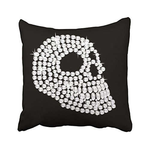 Skull Head Printed Pillow Cover Cotton Linen Cushion Case - 6