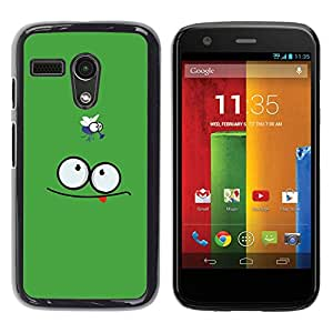LECELL -- Funda protectora / Cubierta / Piel For Motorola Moto G 1 1ST Gen I X1032 -- Funny Face & Fly --