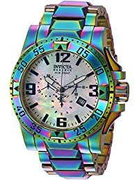 Men's Reserve Quartz Watch with Stainless-Steel-Plated Strap, Multi, 26 (Model: 25362)