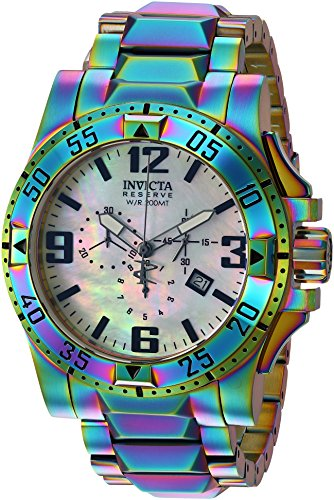 Invicta Men's Reserve Quartz Watch with Stainless-Steel-Plated Strap, Multi, 26 (Model: 25362) (Watches Reserve Women Invicta)