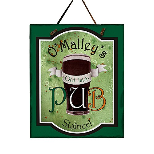 Personalized Old Irish Pub Slate Plaque, 11 H