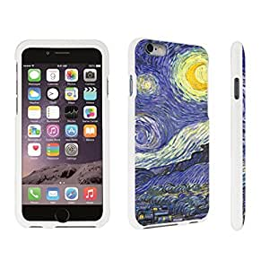 DuroCase ? Apple iPhone 6 Plus - 5.5 inch Hard Case White - (Starry Night)