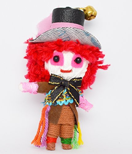 (VD007) Mad Hatter Alice in Wonderland Handmade String Voodoo Doll Keychain