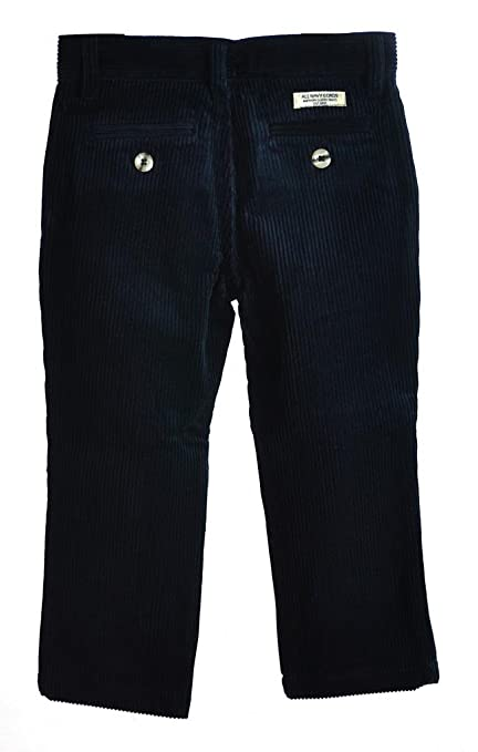 Amazon.com: All Navy Boys Straight cut Corduroy pants with flat ...