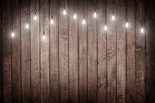 Renaiss 10x8ft Vintage Wood Backdrop Retro Wooden Board Rustic Faux Panel Hanging Light Background Photography Kids Adult Newborn Portrait Online Store Product Pet Photo Booth Video Shoot Studio Props