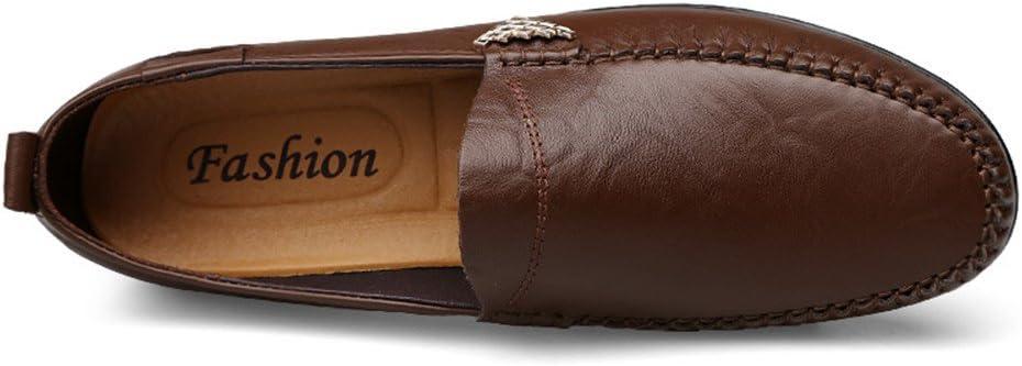 Color : Light Brown, Taille : 38 EU Best-choise Slip en Cuir v/éritable de qualit/é sup/érieure pour Hommes sur Les Mocassins Brillant