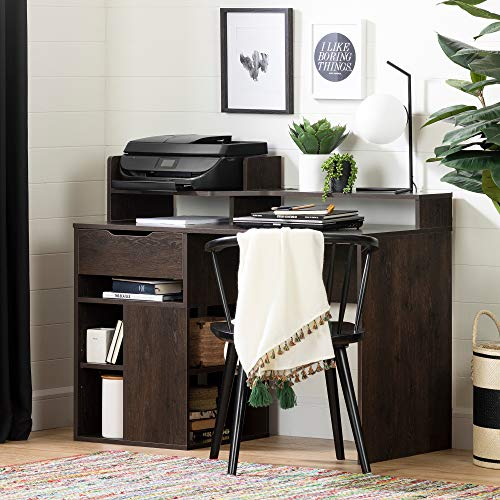 (South Shore 12223 Holland Desk with Hutch and Storage, Brown Oak)