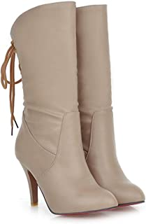 HETAO Talons de personnalité Ladies Womens High Heel Stretch Faux Leather Chaussures en Daim Tempérament Élégant Chaussures