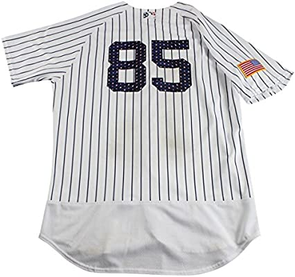 newest 2f699 acbc8 Luis Cessa New York Yankees Game Used #85 Fourth of July ...