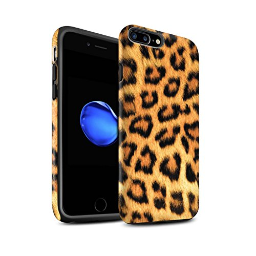 STUFF4 Matte Tough Shock Proof Phone Case for Apple iPhone 7 Plus / Leopard Design / Animal Fur Effect/Pattern Collection