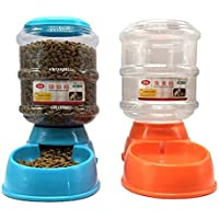 SODIAL(R) 2 x Distributeur de Croquettes et d'eau pour Chien et Chat 3.5L