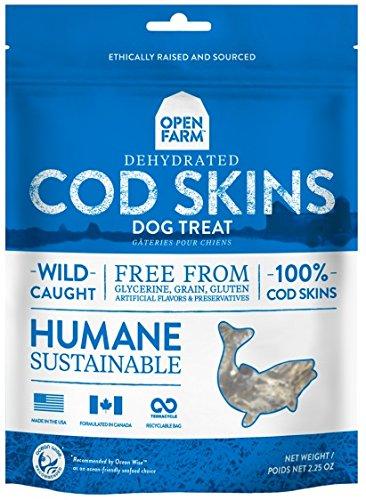 Open Farm Grain-Free Dehydrated Cod Skins Dog Treats 2.25 Ounces by Open Farm