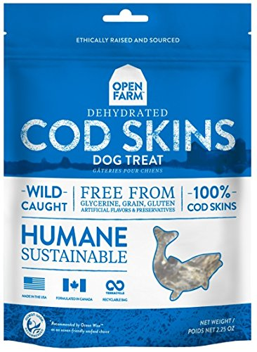 UPC 628451123446, OPEN FARM DOG TREAT DEHYDRATED COD SKINS 2.25 OZ