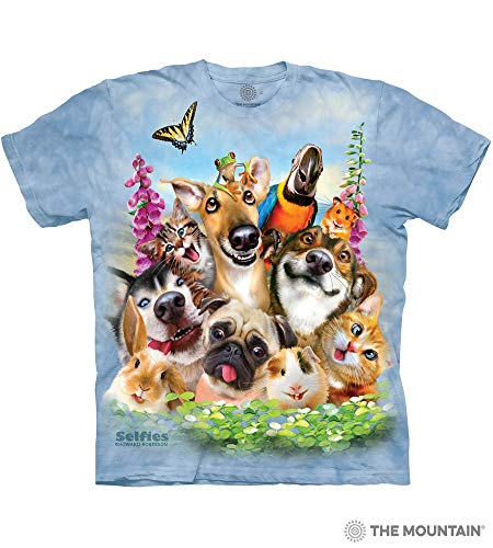 Price comparison product image The Mountain Pet Selfie Adult T-Shirt,  Blue,  XL
