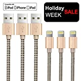 OTISA 3Pack 5Ft Nylon Braided Long Compatible Cable with Ultra-compact Connector Charging Cord Charger Compatible Phone 7/7 Plus/6s/6s Plus/6/6 Plus/5s/55se