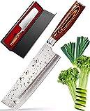 Best Japanese Knives - Vegetable Japanese Chef Knife - 7Inch Usuba-Cutter-Slicer-Cleaver-Nakiri Review