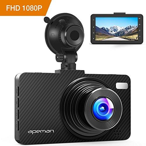 Dash Cam APEMAN Dashboard FHD 1080P Car Camera DVR Recorder with 3.0″ LED Screen, Night Vision, G-sensor, WDR, Loop Recording, Motion Detection