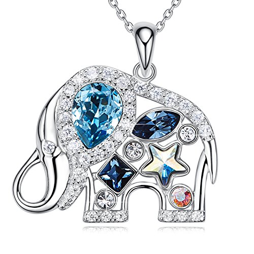 Elephant Necklace 925 Sterling Silver Pendant Necklaces for Girls ()